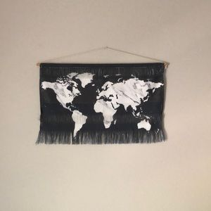 World Map Hanging Wall Art